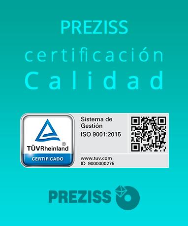Preziss certificado de calidad
