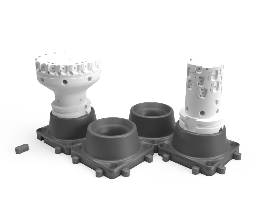 3D printed HSK 63 A tooling supports by Preziss PRZ3D