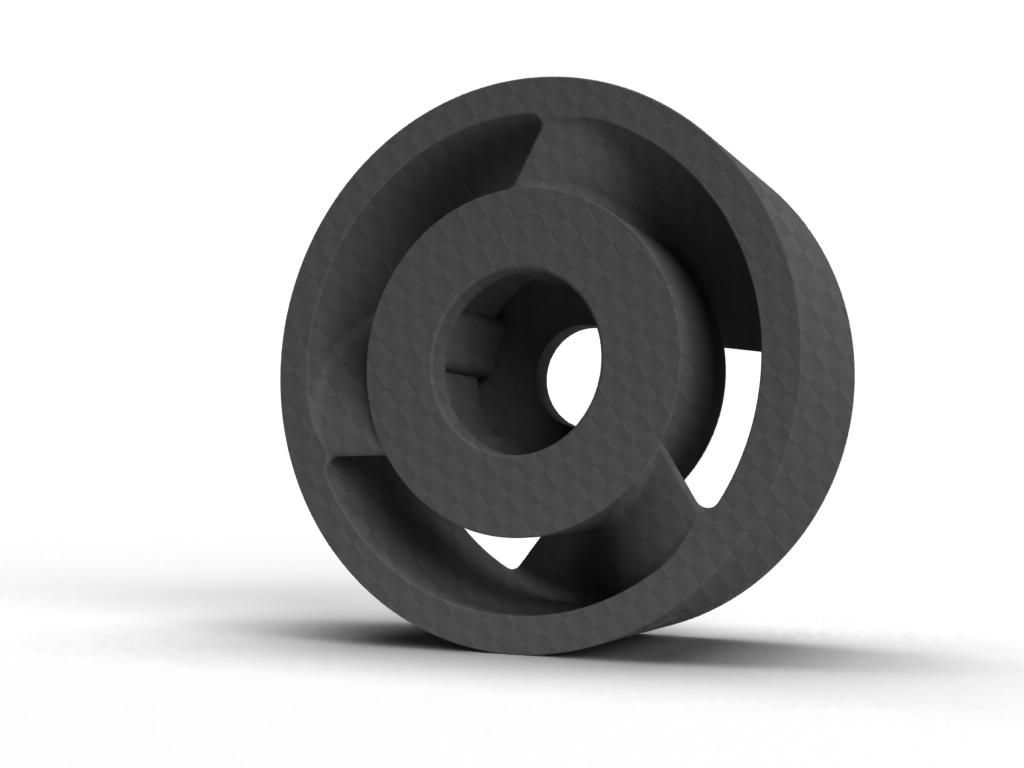 Carbon fiver dust extractor fan 3D printed by Preziss PRZ3D
