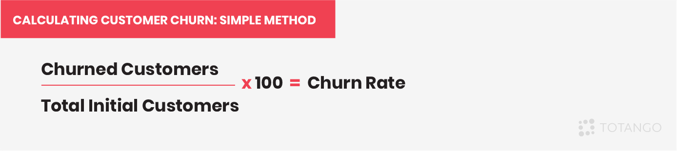 A simple method to calculate customer churn