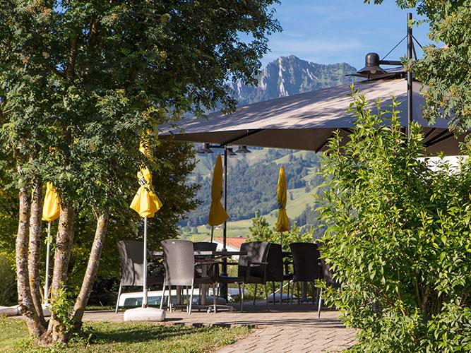 Restaurant Le Pic Vert - Grandvillard - Terrasse