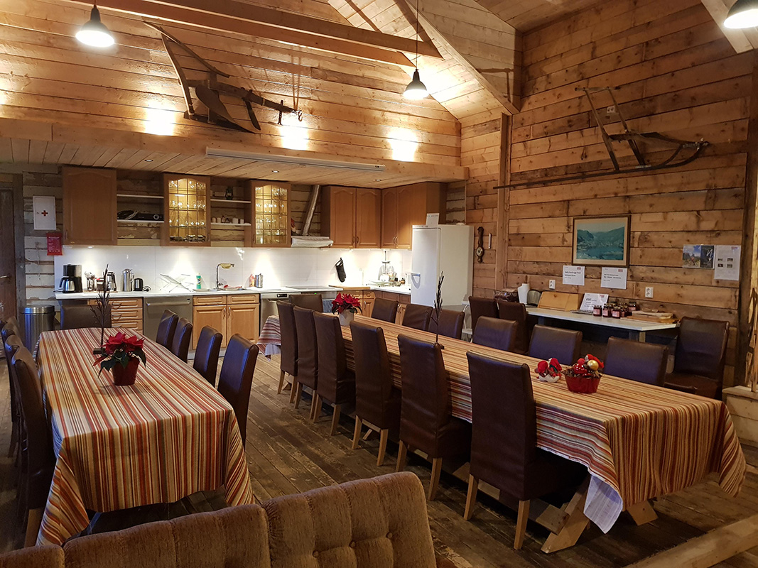 Kitchen at Solneset Gård outside Bergen, Norway