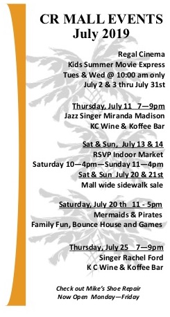 July schedule of events