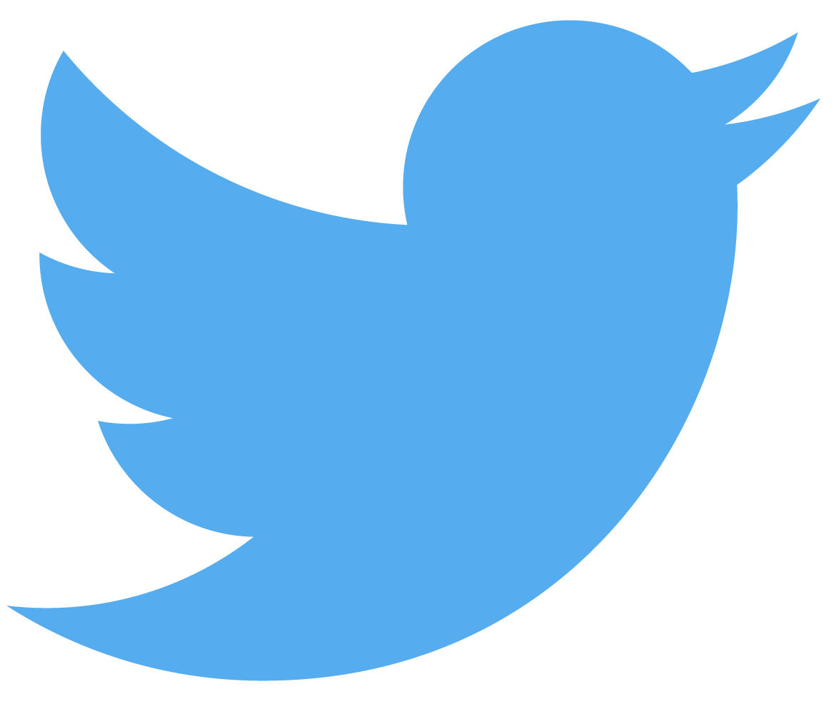 black twitter icon with link to store twitter page
