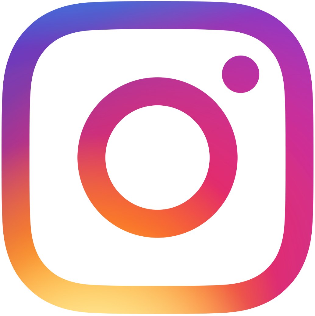 black instagram icon with link to store instagram page