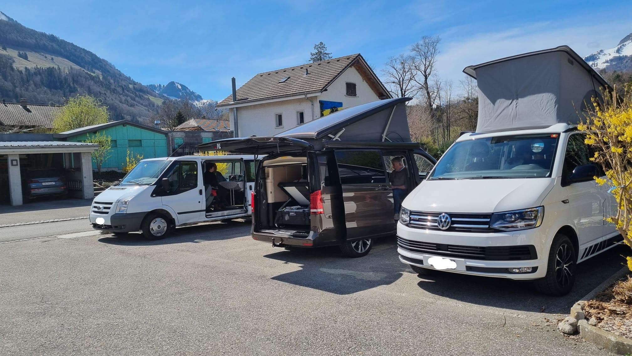 Dîner en bus/camping-car