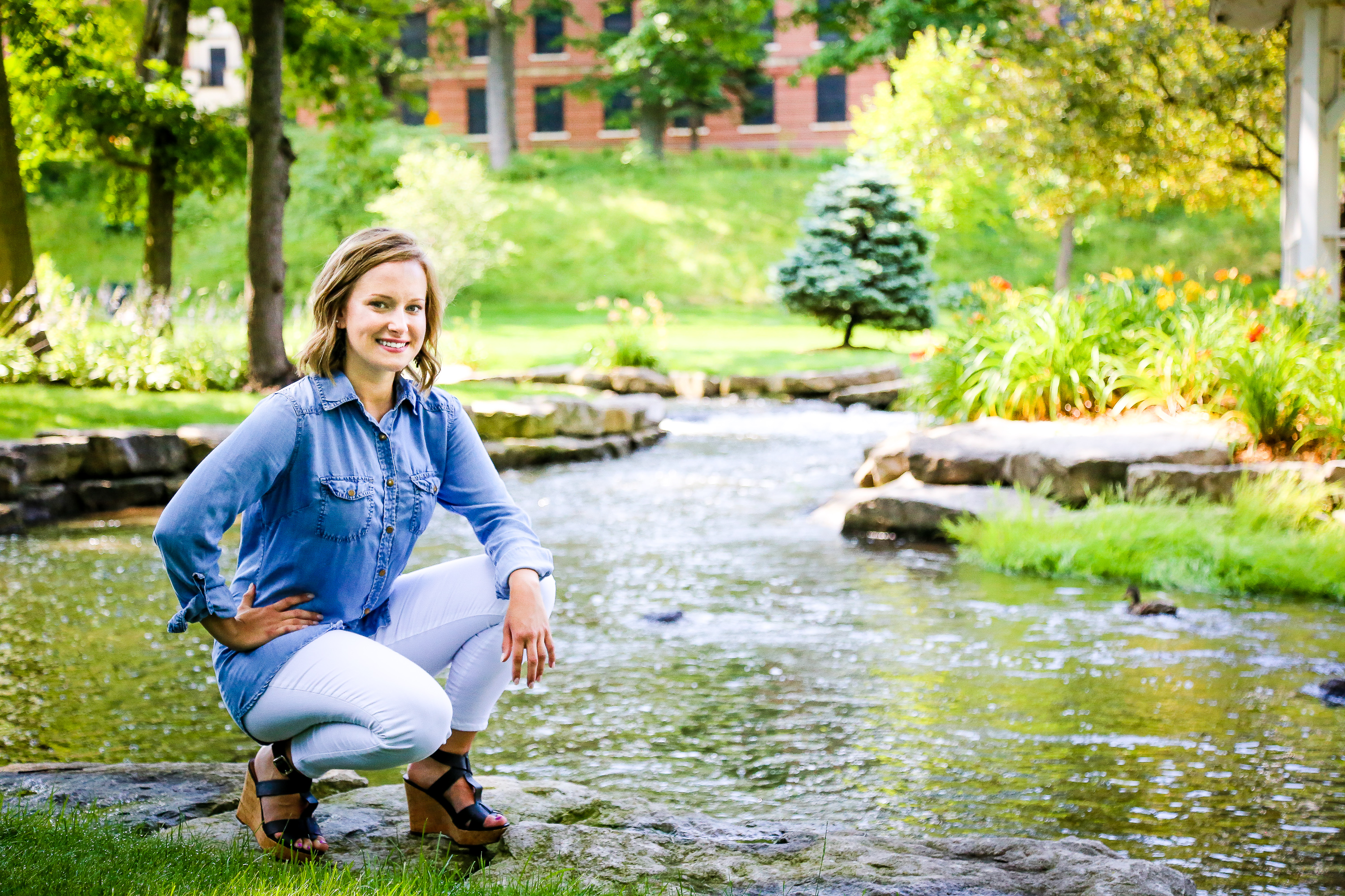 Shelby Gulpker's senior photography session at the Grand Rapids Home for Veterans, located in Grand Rapids, Michigan.