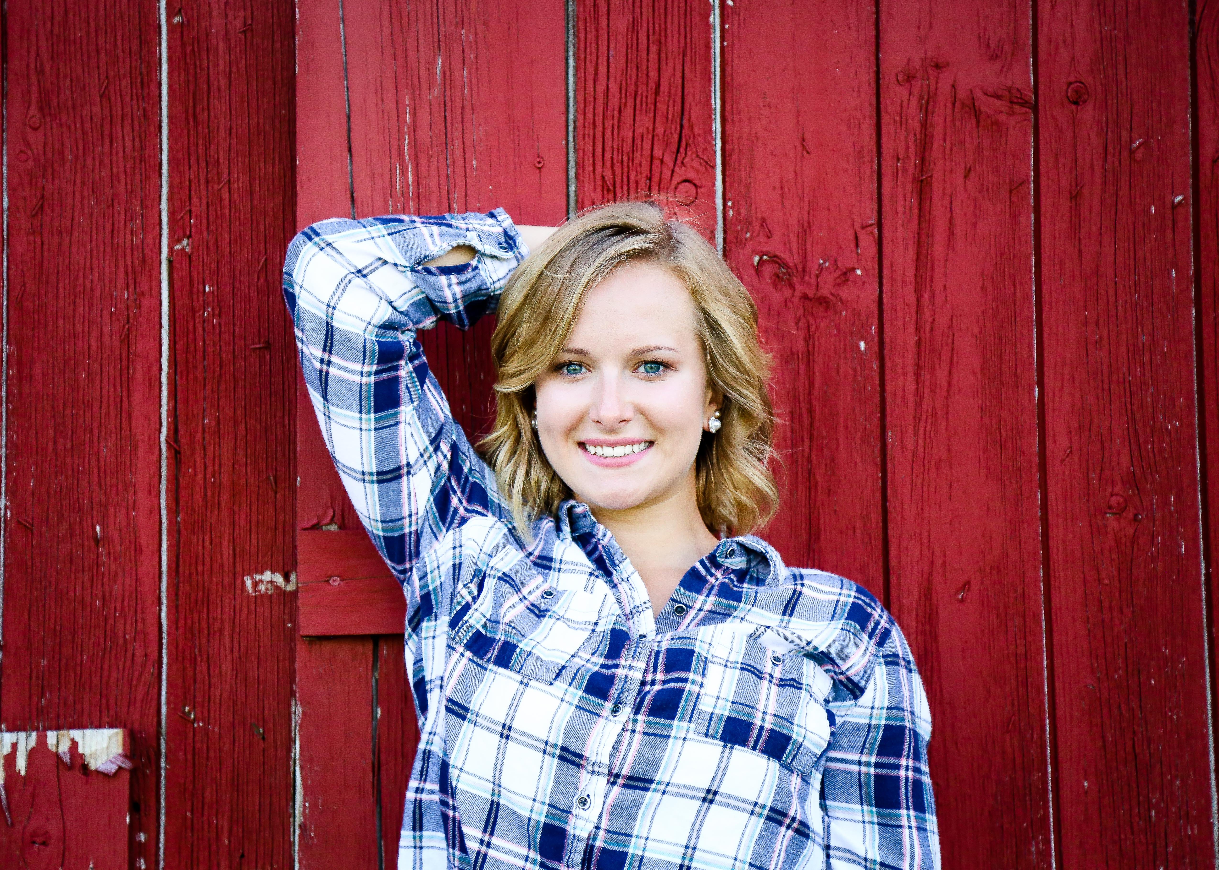 Shelby Gulpker's senior photography session at the Red Barn, located in Grand Rapids, Michigan.