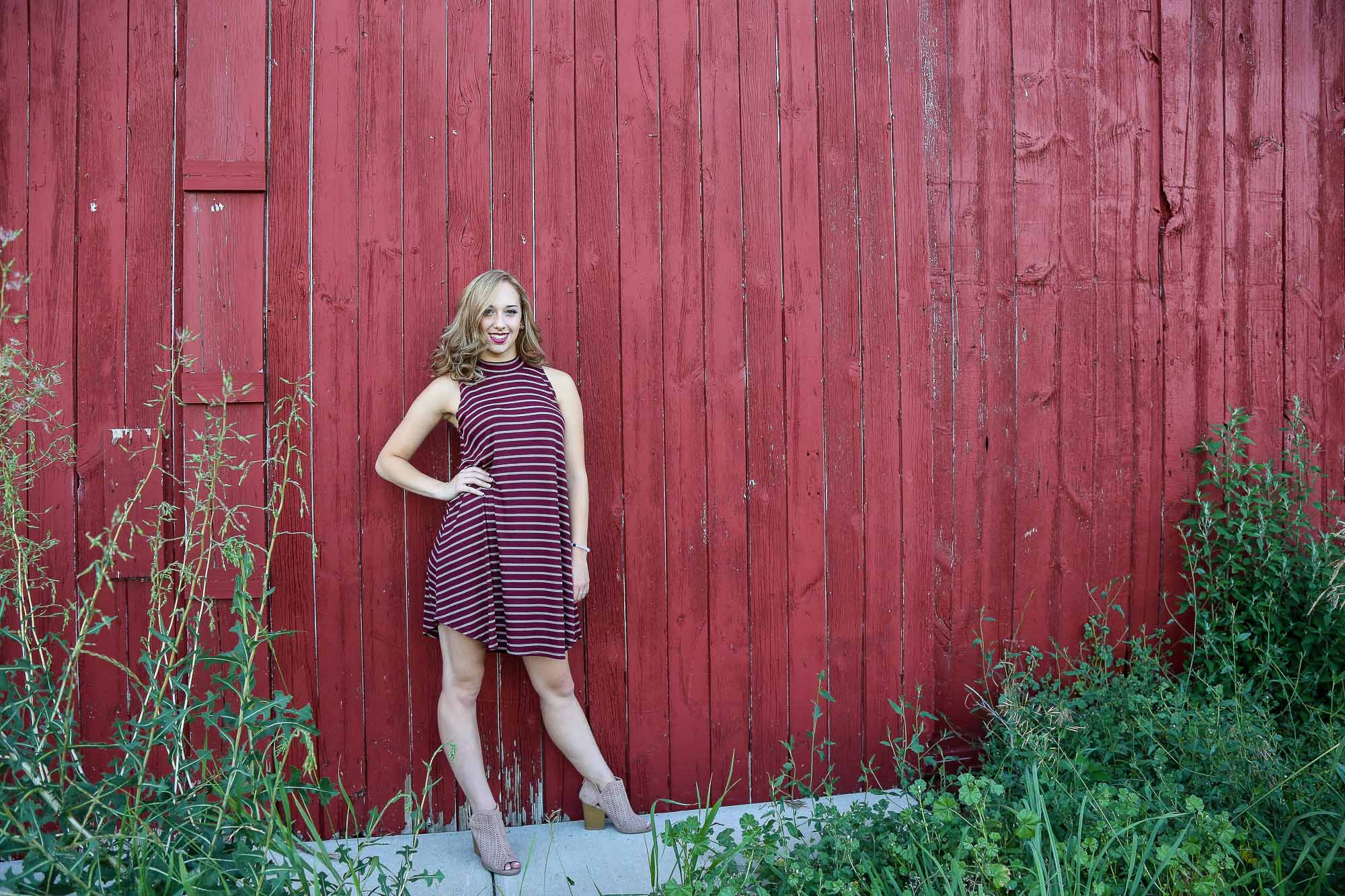 Natalie Stockel's senior photography session at the Red Barn, located in Grand Rapids, Michigan.