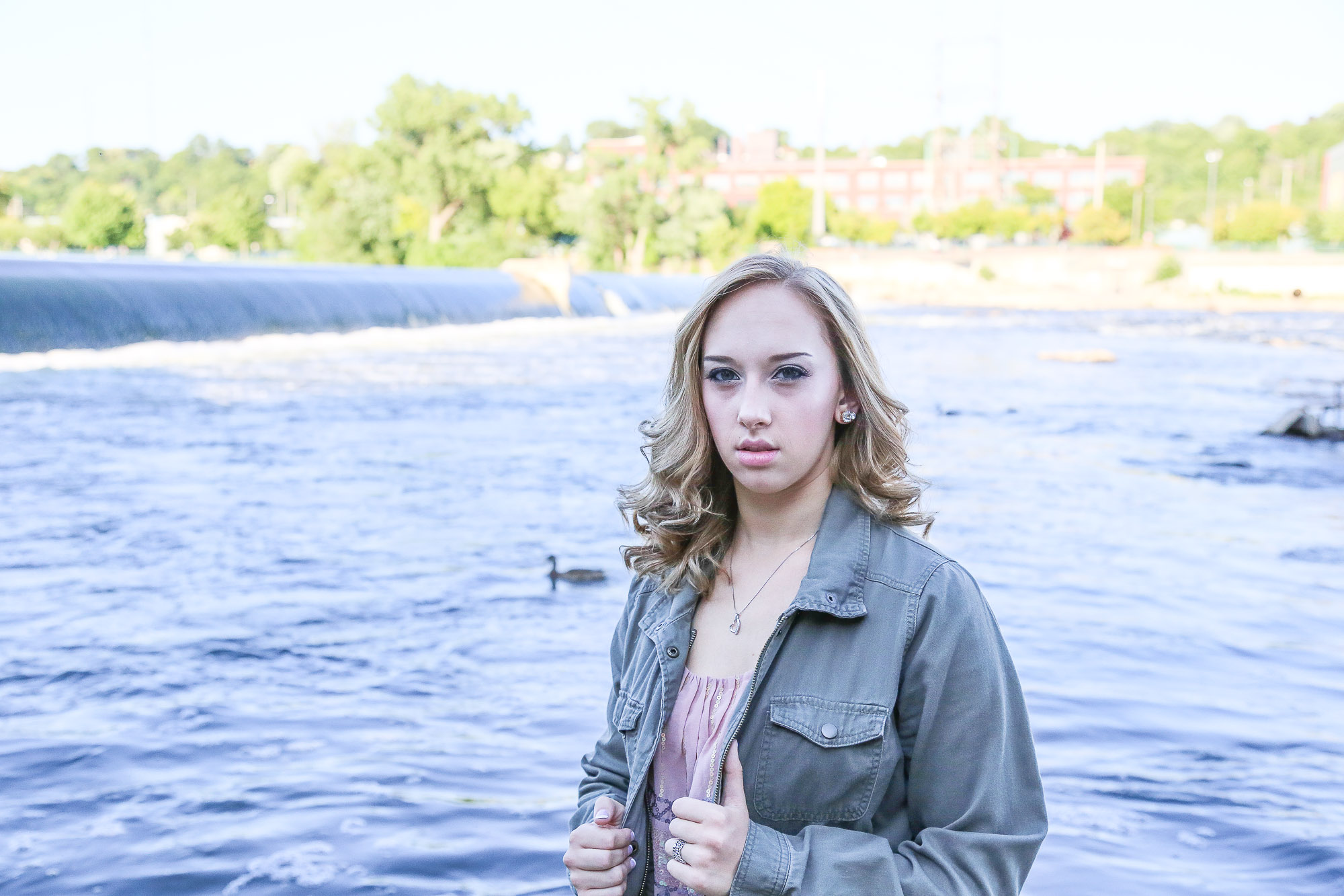 Natalie Stockel's senior photography session at the Green Bridge, located in Grand Rapids, Michigan.