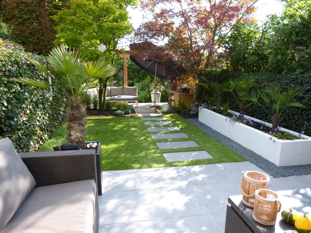 Een tuin met een mediterraan tintje in Boskoop