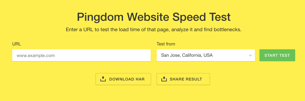 Pingdom Website Speed Test For Legal SEO