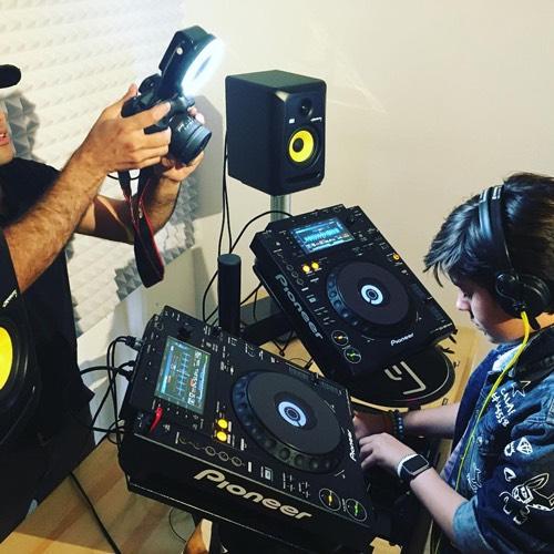 Kid DJing