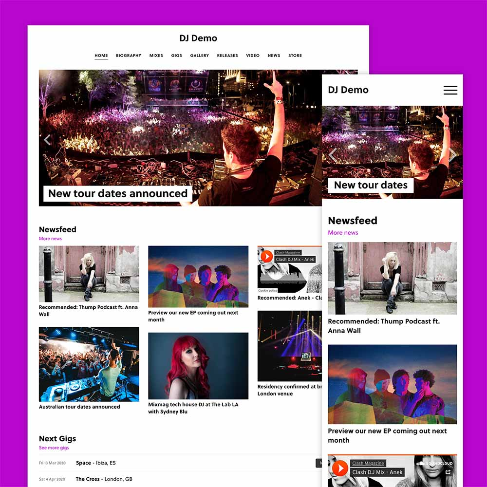 Build a DJ website with our new partner Vibecast!