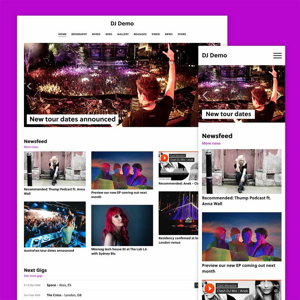 Build a DJ website with our new partner Vibecast!