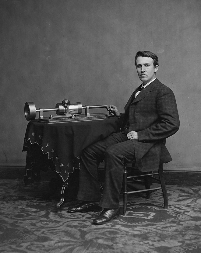 Edison and his Phonograph Invention