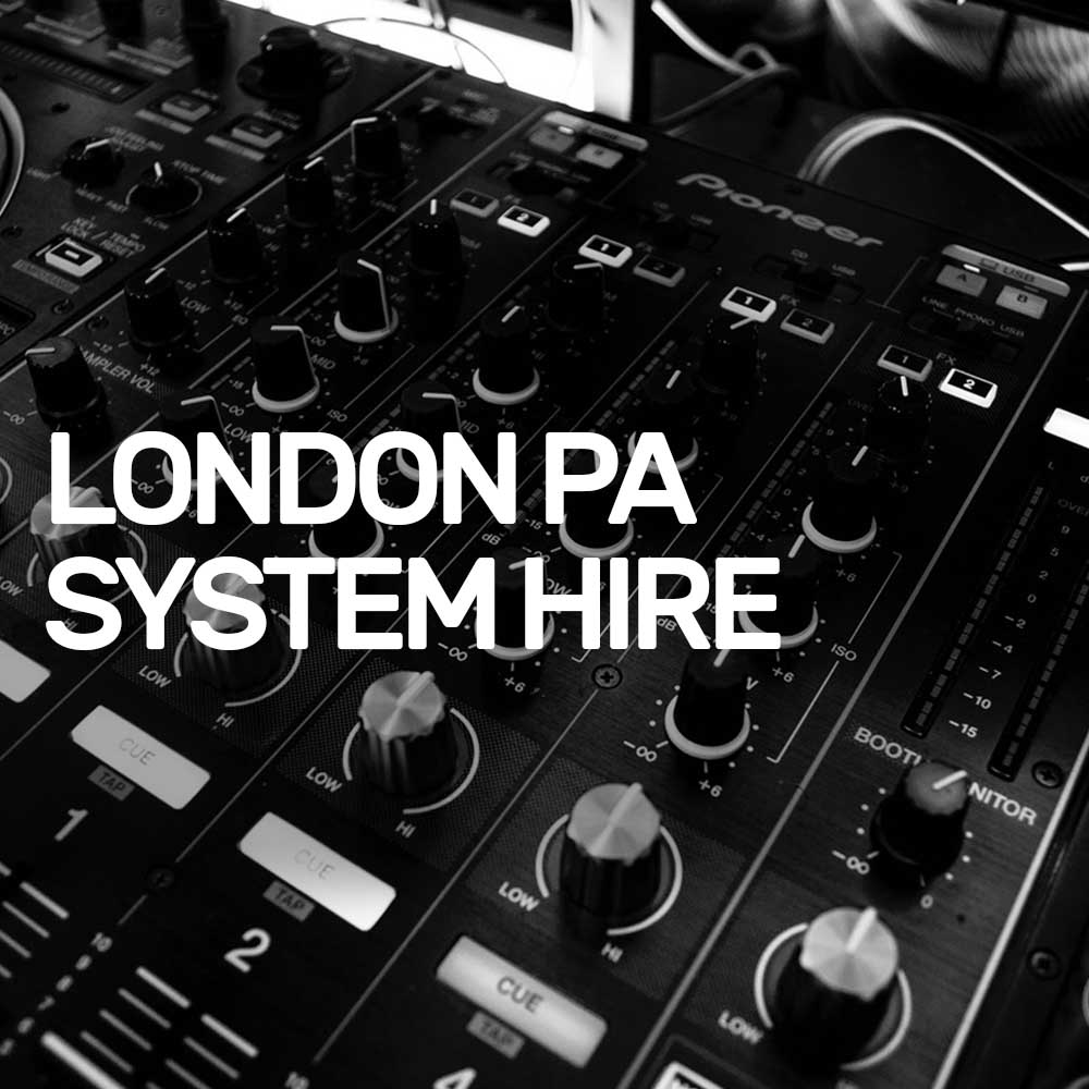 PA System & Speaker Hire London