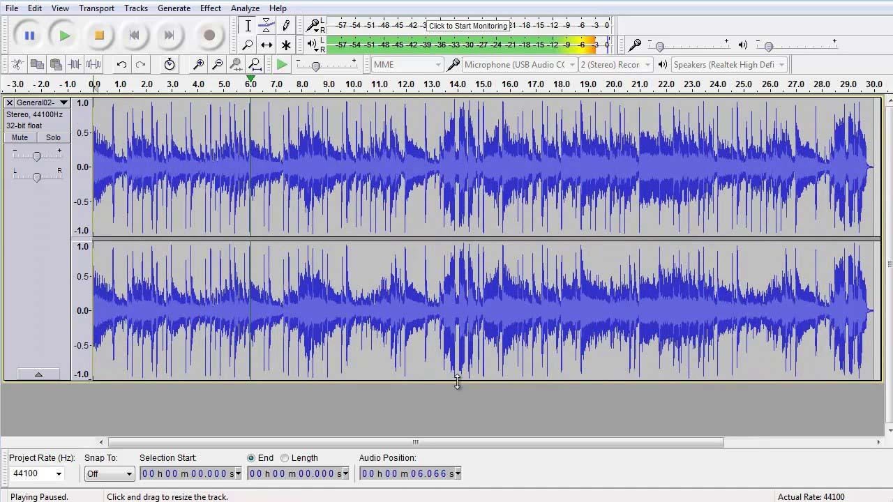 How to make mixtape on Audacity