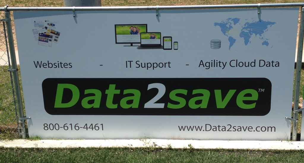 Data2save welcomed as a Field Signage Sponsor