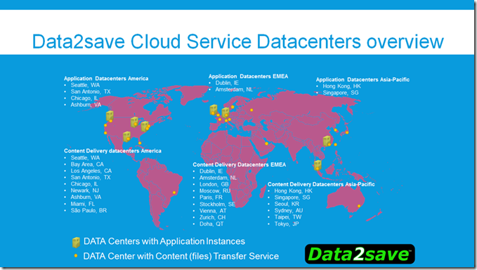 Data2save Agility available in 24 datacenters around the world