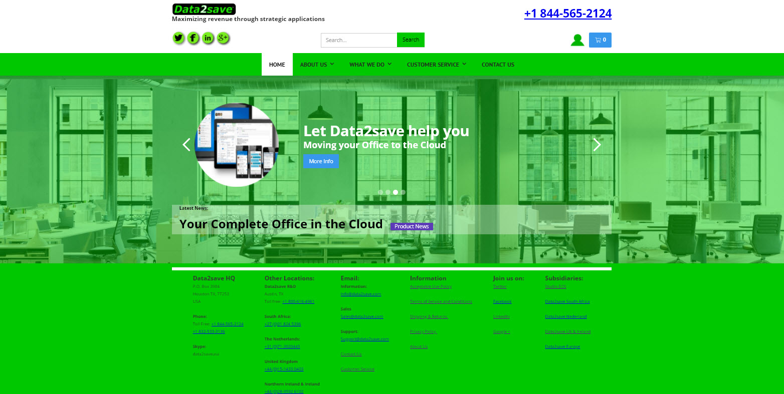 New website for data2save