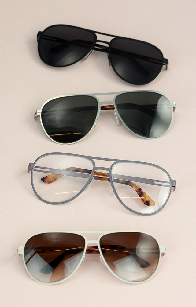 Custom aviator sunglasses from Topoliogy Eyewear