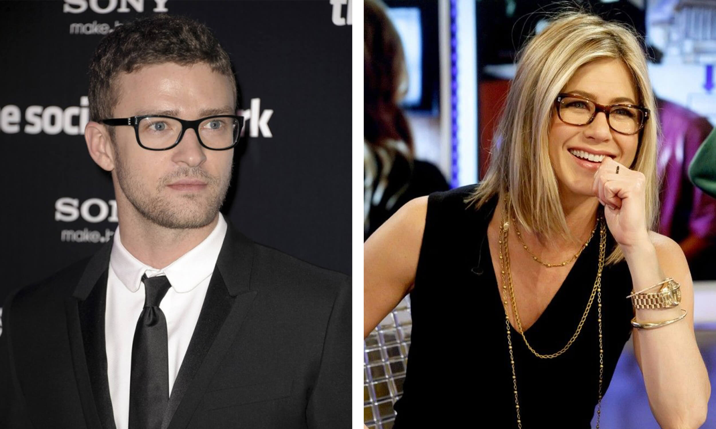 77d7e3d9813 Justin Timberlake and Jennifer Aniston have more angular features