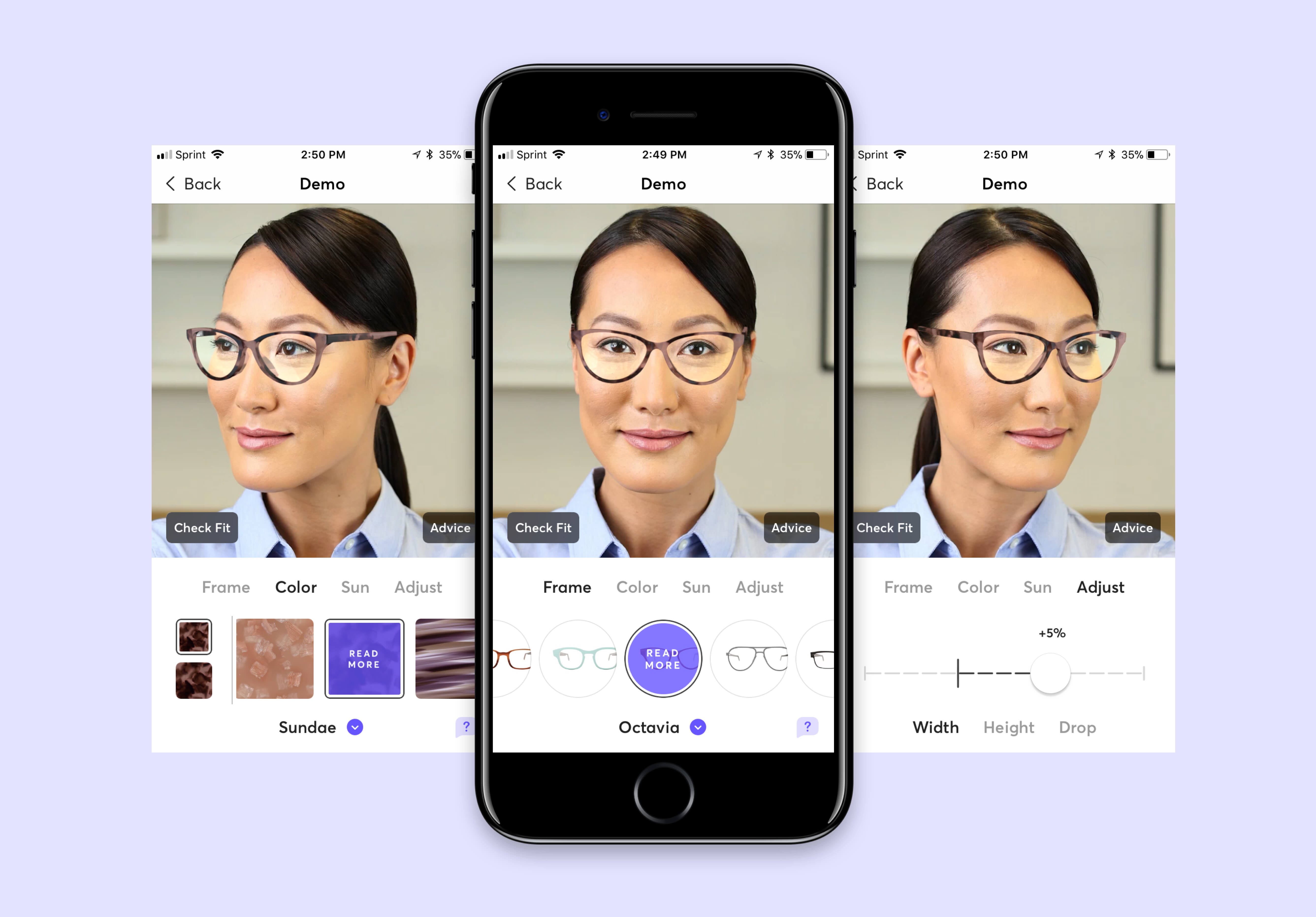b8640989fa Design your own pair of oversized glasses or sunglasses using the Topology  Eyewear app. You can make adjustments to the height