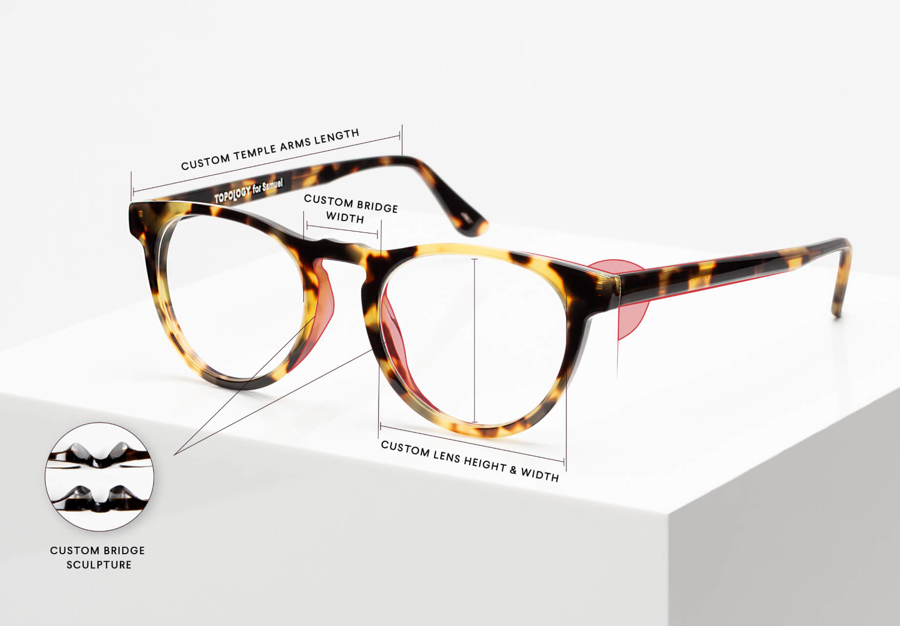 fea9970098f Topology glasses are made for your eyes only. Our custom-fit eyewear is  made from scratch for one person at a time