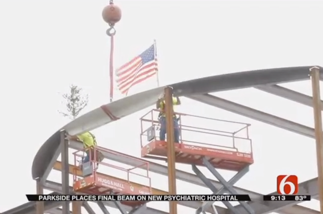 Hospital employees, donors, and supporters were all able to sign the final beam before it was put in place.