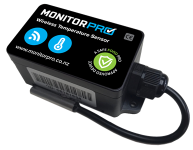 Plug and play wireless temperature monitoring device | Safe Food Pro
