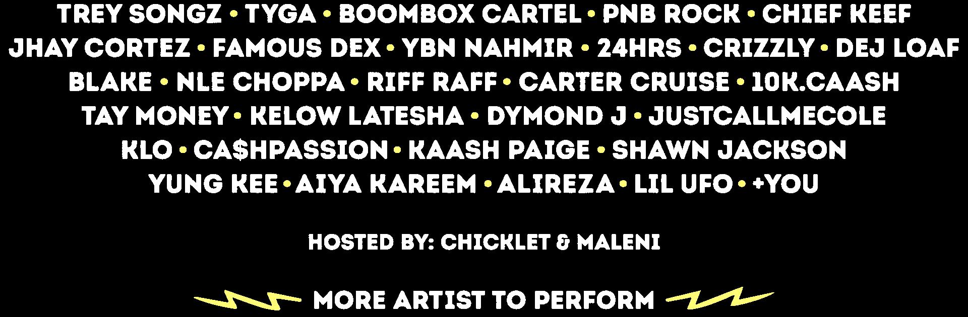 2019 Lineup includes Trey Songz, Tyga, Boombox Cartel, PnB Rock, Chief Keef