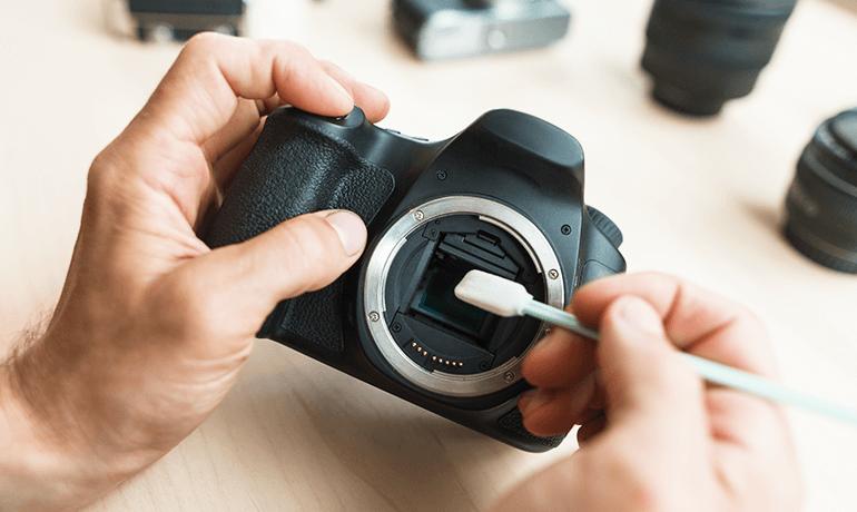 Entretien et réparation d'appareils photo