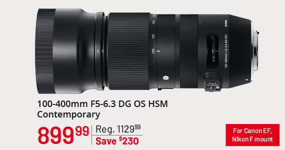 Sigma 100-400mm F5-6.3 OS DG HSM Contemporary