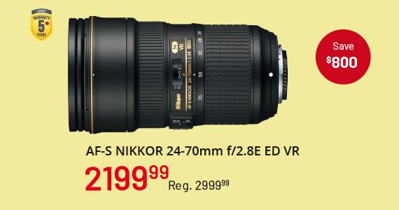 AF-S Nikkor 24-70m f/2.8E ED VR