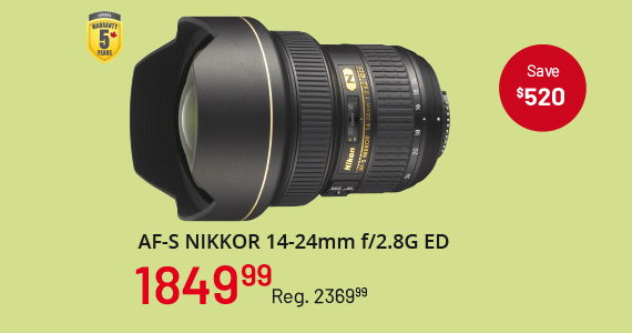 AF-S Nikkor 14-24m f/2.8G ED