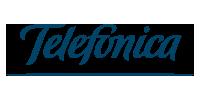 Logo unseres Messaging-Kunden Telefonica aus dem Bereich Telekommunikation