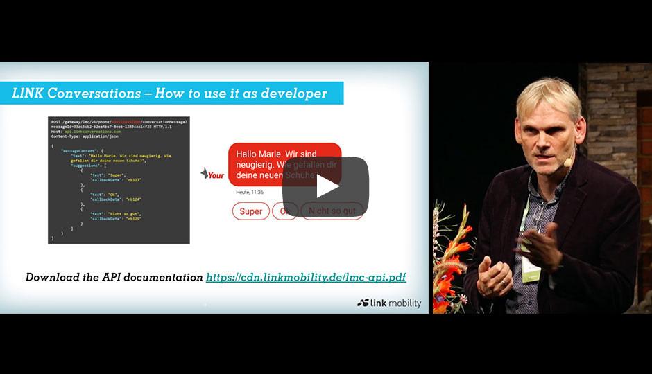Vortrag LINK Mobility zu Bot-geführten Konversationen auf dem Smartphone