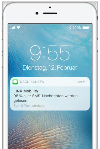 SMS and Kunden senden – 98 % aller SMS werden gelesen