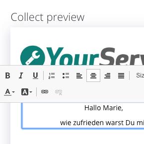 LINK Collect im Webportal erstellen
