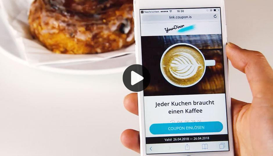 Erklärendes Video zum Produkt Mobile Coupons von LINK Mobility