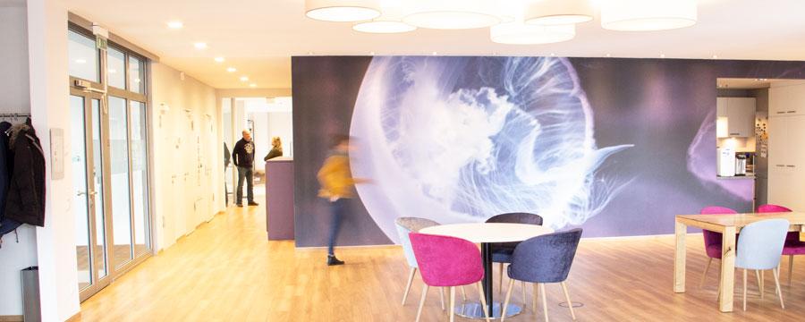 Unsere Lounge für kreative Meetings, Events und gemeinsames Essen.