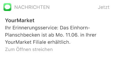 SMS-Nachrichten über deutsches SMS Gateway senden, z.B. zur Information über Produktverfügbarkeiten