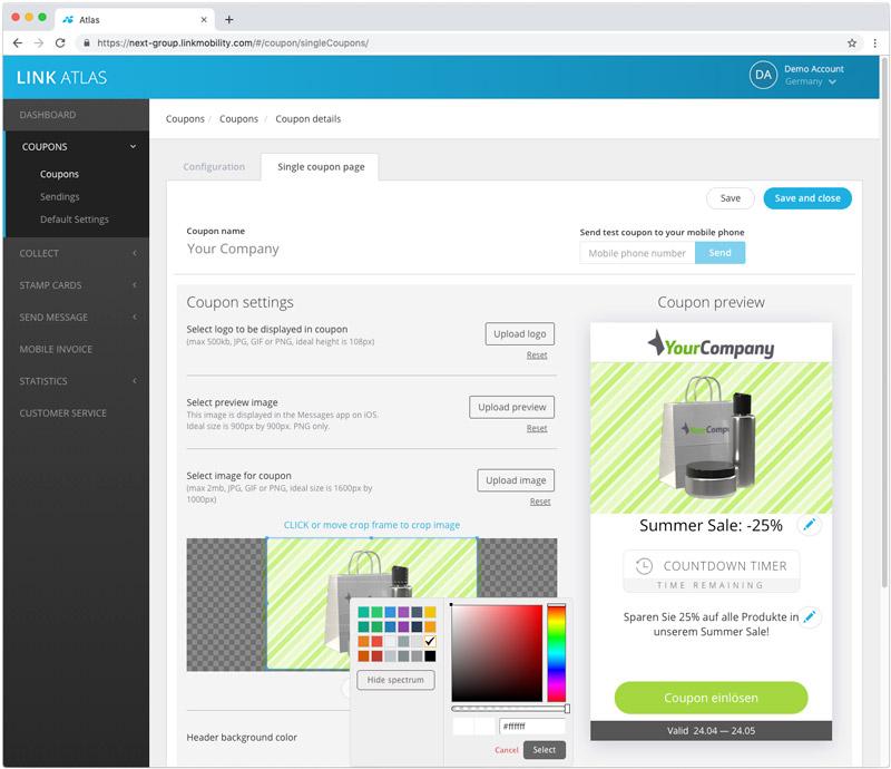 NEXT Kundenportal: Einfache Erstellung und Auswertung von mobilen Coupons