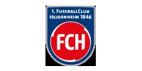 Logo unseres Messaging-Kunden 1. FC Heidenheim aus dem Bereich Sport