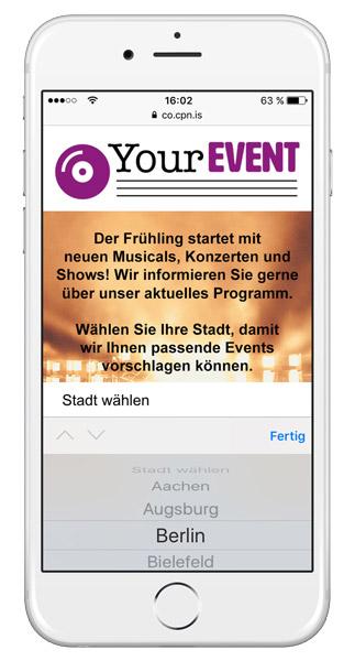 Kundendaten DSGVO-konform per SMS erheben