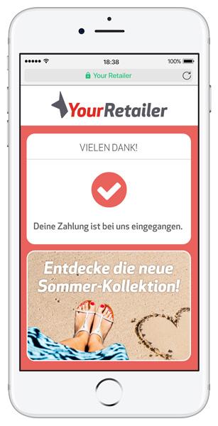 Mobile Zahlungsabwicklung per SMS auf dem Handy