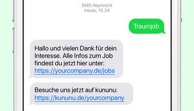LINK Mobility Flyer - Wie Sie über mobile Messagingkanäle Kandidaten gewinnen