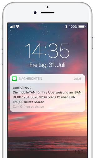 Two-Factor-Authentication SMS von comdirect - Versand über das SMS Gateway von LINK Mobility