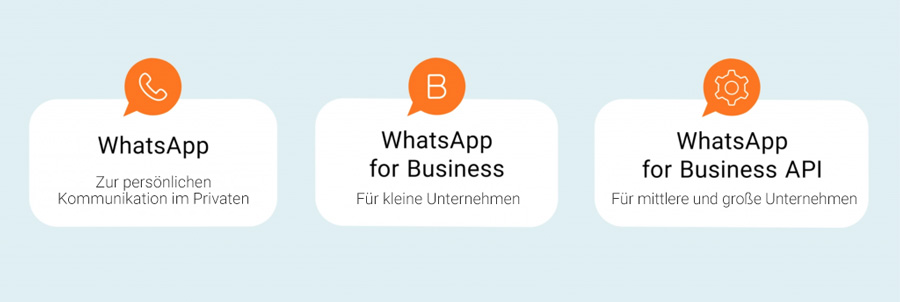 Unterschied zwischen WhatsApp, WhatsApp for Business und WhatsApp for Business API